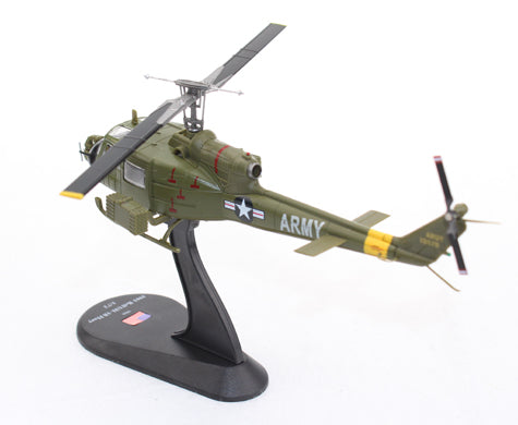 Bell UH-1B Iroquois (Huey - Heavy Hog) 128th AHC 1968 1:72 Scale Diecast Model By Amercom Left Rear View