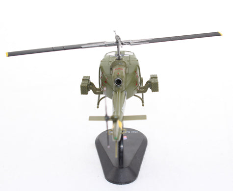 Bell UH-1B Iroquois (Huey - Heavy Hog) 128th AHC 1968 1:72 Scale Diecast Model By Amercom Rear View