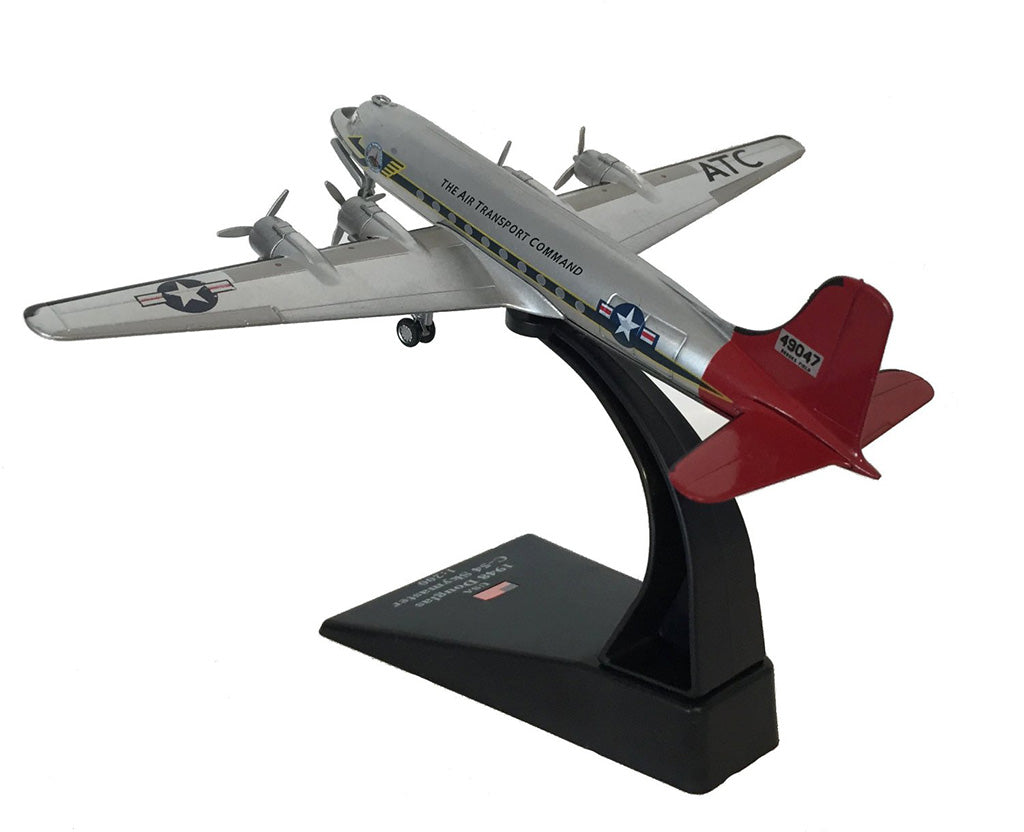 "Douglas C-54 Skymaster ""Candy Bomber"" Berlin Airlift 1948 1:200 Scale Model By Amercom Left Rear View"