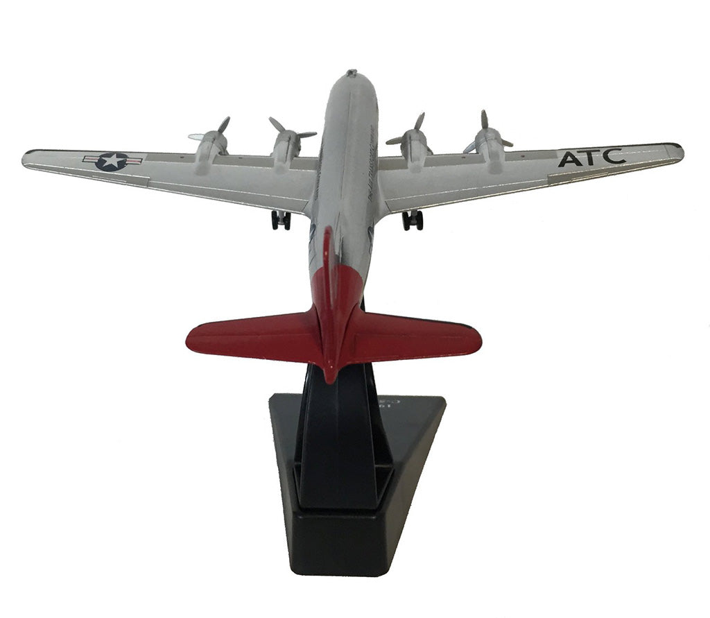 "Douglas C-54 Skymaster ""Candy Bomber"" Berlin Airlift 1948 1:200 Scale Model By Amercom Rear View"