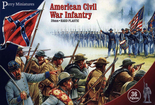 American Civil War Infantry 1861-1865 (28 mm) Scale Model Plastic Figures By Perry Miniatures Box Front