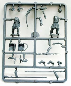 American Civil War Zouaves 1861-1865 (28 mm) Scale Model Plastic Figures Sample Sprue