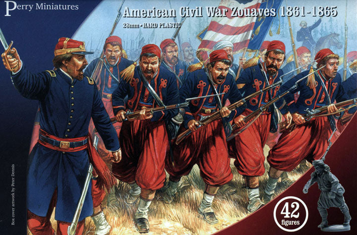 American Civil War Zouaves 1861-1865 (28 mm) Scale Model Plastic Figures By Perry Miniatures
