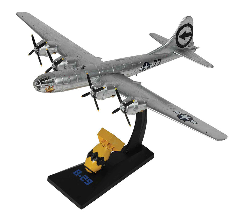 "Boeing B-29 Superfortress ""Bockscar"" 1/144 Scale Model By AF1 On Stand"
