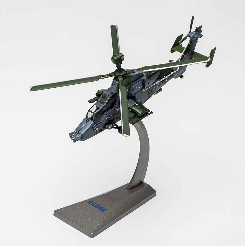 Eurocopter 665 Tiger 1/72 Scale Model Helicopter By AF1 On Stand