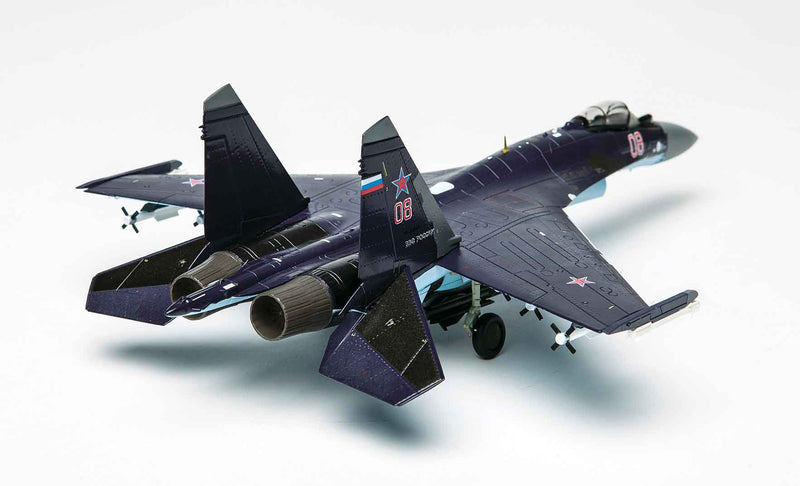 Sukhoi Su-35 Flanker E 1/72 Scale Model By Air Force 1 Right Rear View