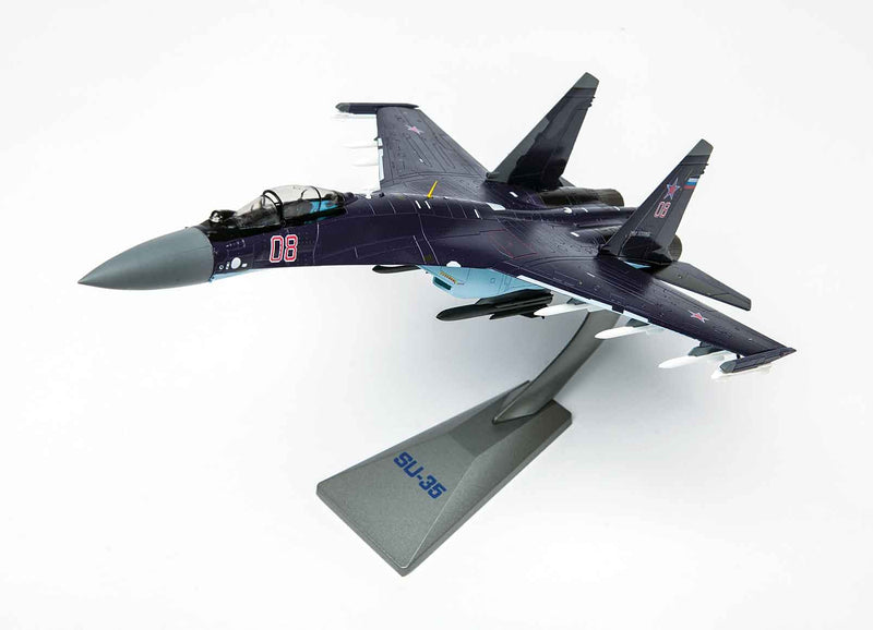 Sukhoi Su-35 Flanker E 1/72 Scale Model By Air Force 1 Left Front View