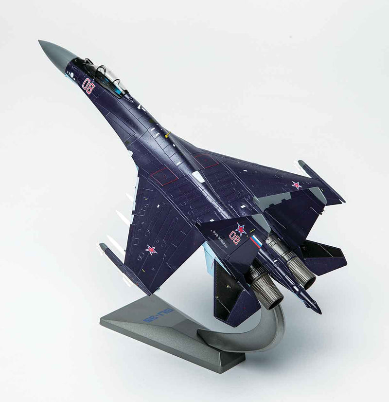 Sukhoi Su-35 Flanker E 1/72 Scale Model By Air Force 1 Left Rear View