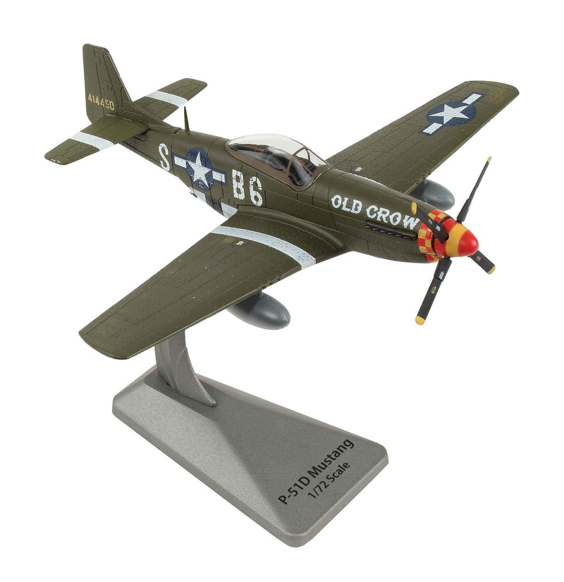 "North American P-51D Mustang ""Old Crow"" 1:72  Scale Diecast Model By Air Force 1"