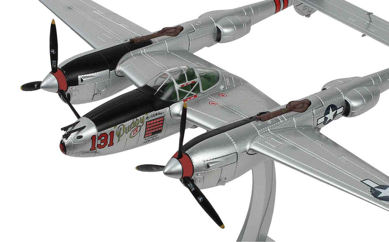"P-38J Lightning ""Pudgy IV"" 1:48 Scale Model By Air Force 1 Nose Art"