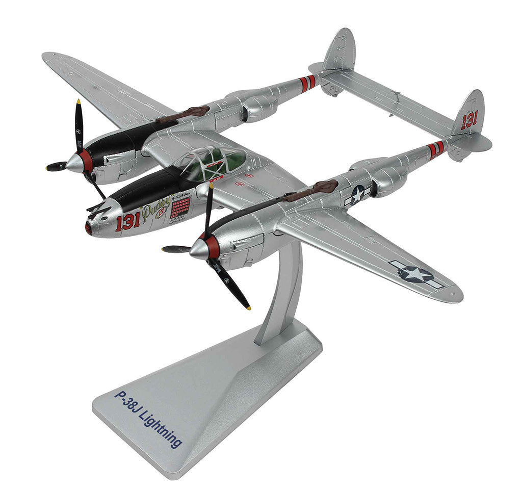 """Lockheed P-38J Lightning """"Pudgy IV"""" 1:48 Scale Diecast Model By Air Force 1"""