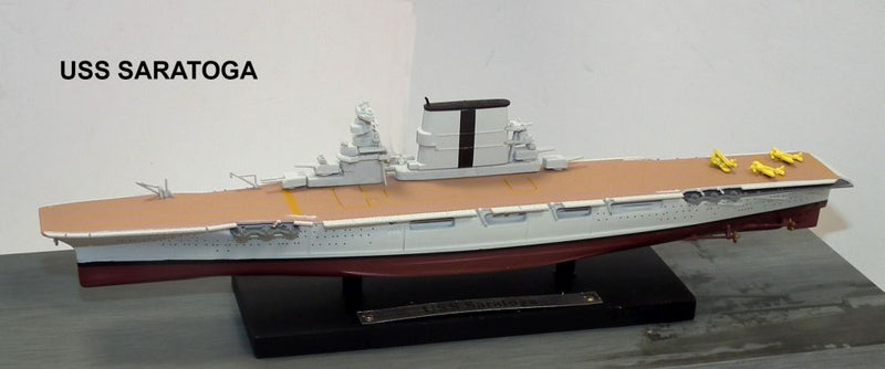 USS Saratoga CV-3 1/1250 Scale Model By Atlas Editions