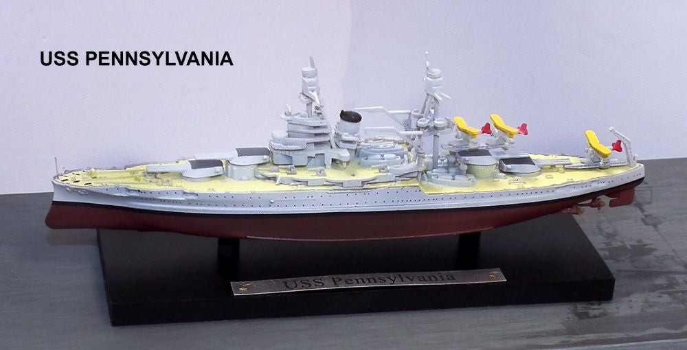 US Navy Battleship USS Pennsylvania BB-38 1/1250 Scale Model By Atlas Editions