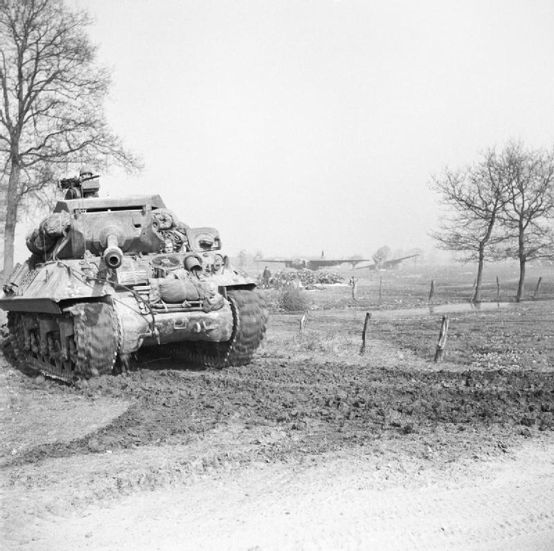 Achilles Tank Destroyer Prior To Crossing the Rhine River