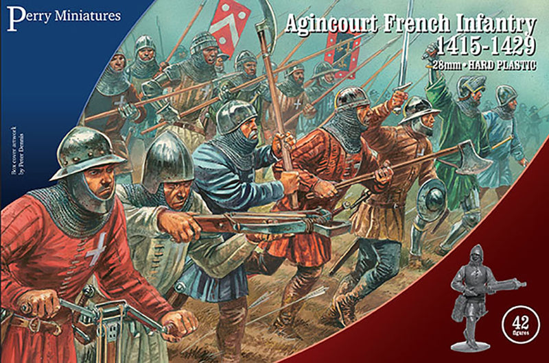 Perry Miniatures Agincourt French Infantry 28 mm Plastic Miniatures Kit Box Cover