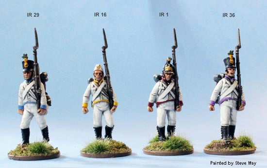 "Napoleonic Austrian ""German"" Infantry 1809 - 1815 28 mm Scale Model Plastic Figures Painted Sample"