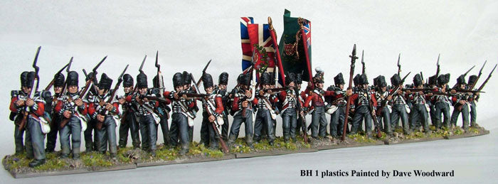 Napoleonic British Line Infantry 1808 – 1815, 28 mm Scale Model Plastic Figures Painted Example
