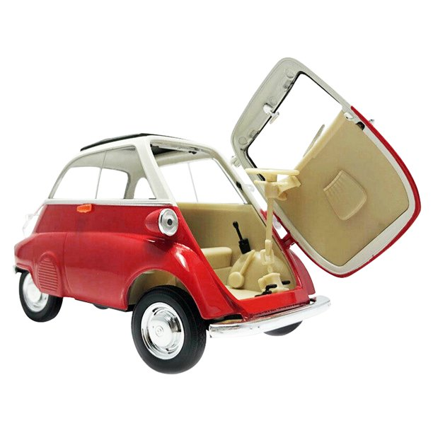 BMW Isetta (Red) 1/18 Scale Diecast Car By Welly Open Door
