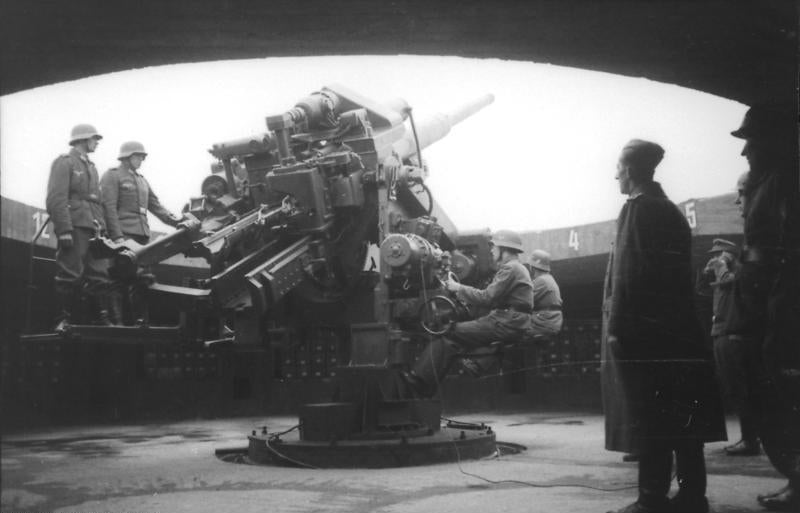 12.8 cm Flak on a tower