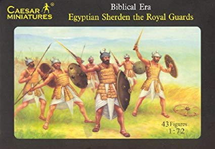 Biblical Era Egyptian Sherden The Royal Guards Figures 1/72 Scale By Caesar Miniatures