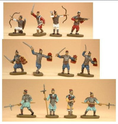 Ancient Chinese Ch'in (Qin) Dynasty Army Figures 1/72 Scale By Caesar Miniatures