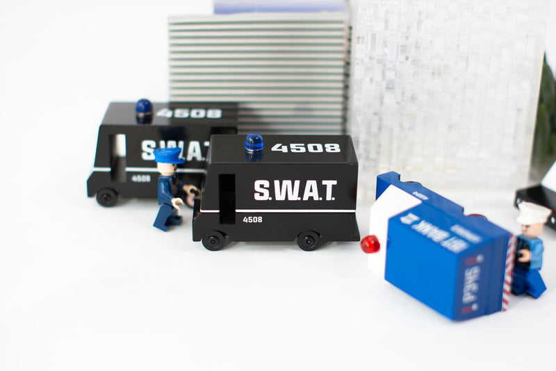 SWAT Van By Candylab Toys At The Scene