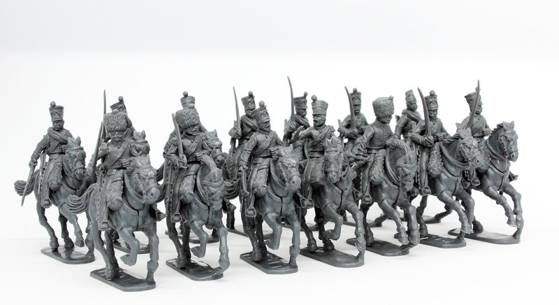 Napoleonic French Line Chasseurs à Cheval 1808 – 1815, 28 mm Scale Model Plastic Figures In Campaign Dress