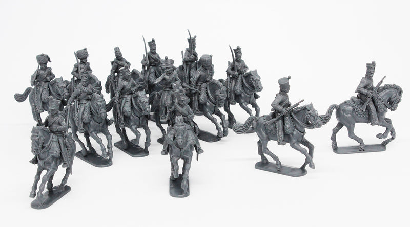 Napoleonic French Line Chasseurs à Cheval 1808 – 1815, 28 mm Scale Model Plastic Figures With Scouts