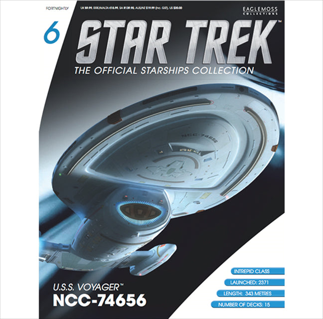 Eaglemoss USS Voyager Issue 06 Magazine