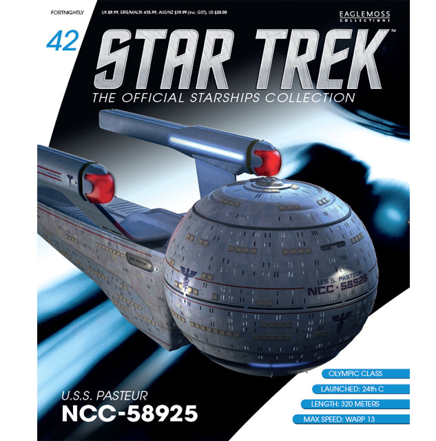 Eaglemoss Star Trek Starships Collection USS Pasteur Magazine
