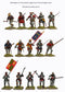 Agincourt Foot Knights 1415-1429, 28 mm Model Plastic Figures Kit By Perry Miniatures Painted Foot Knights