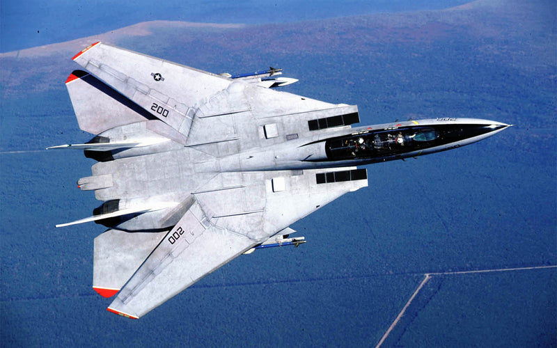F-14A V-14 Overhead View Right Bank