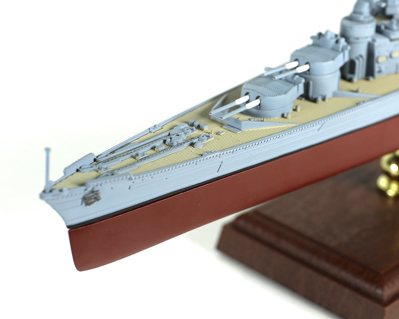 HMS Hood 1/700 Scale Model By Forces of Valor Port Bow View