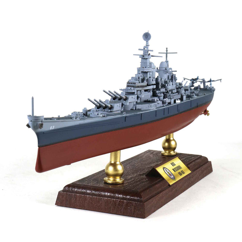 USS Missouri BB-63 1/700 Scale Model By Forces Of Valor Left Bow View