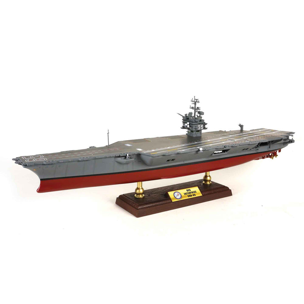 US Navy Aircraft Carrier USS Enterprise CVN-65 1:700 Scale Model By Forces of Valor