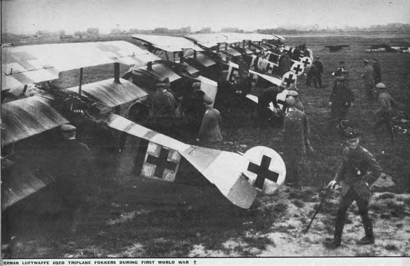 Triplanes from Jasta 26 at Erchin, France WWI