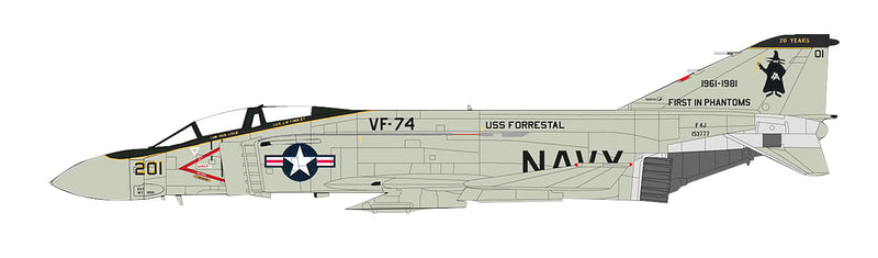 F-4E Phantom II VF-74 1981, 1/72 Scale Model By Hobby Master