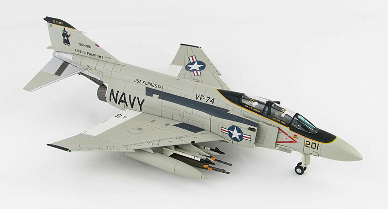 F-4E Phantom II VF-74 1981, 1/72 Scale Model By Hobby Master Right Front View