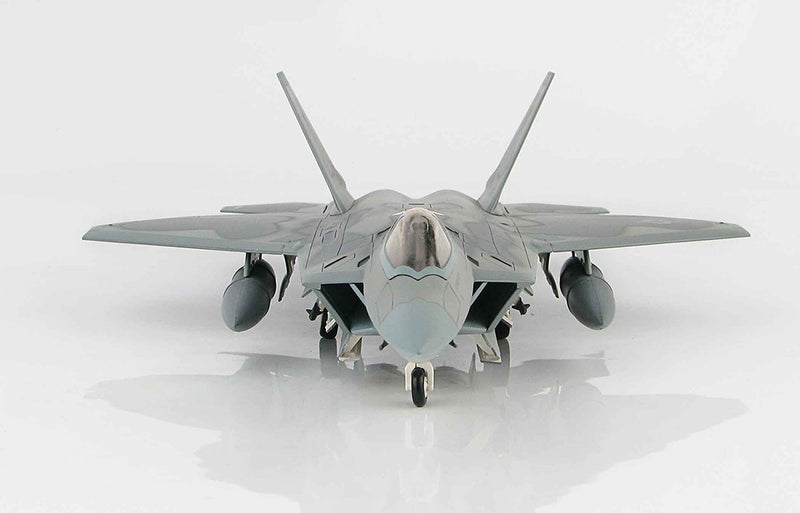 Lockheed F-22 Raptor 1/72 Scale Model By Hobby Master Front View
