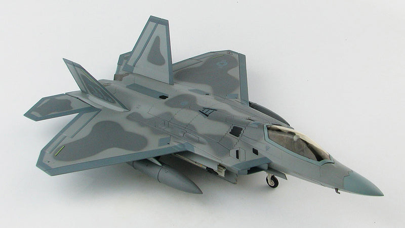 "Lockheed Martin F-22A Raptor, 43rd Fighter Squadron ""Hornets"" 2008, 1:72 Scale Diecast Model By Hobby Master Right Front View"