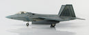 "Lockheed Martin F-22A Raptor, 43rd Fighter Squadron ""Hornets"" 2008, 1:72 Scale Diecast Model By Hobby Master Left Side View"