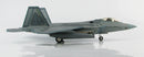 "Lockheed Martin F-22A Raptor, 43rd Fighter Squadron ""Hornets"" 2008, 1:72 Scale Diecast Model By Hobby Master Right Side View"