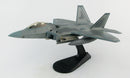"Lockheed Martin F-22A Raptor, 43rd Fighter Squadron ""Hornets"" 2008, 1:72 Scale Diecast Model By Hobby Master Left Front View"