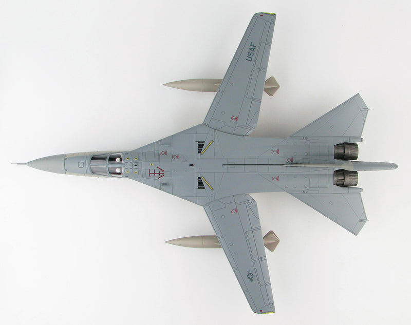 "General Dynamics EF-111A Raven, 390th ECS ""Wild Boars"", 1:72 Scale Model By Hobby Master Top View"