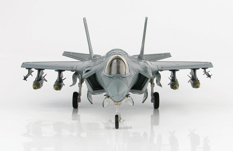 "Lockheed Martin F-35A Lightening II 4th FS ""Fightin Fuujins"" 1:72 Scale Diecast Model By Hobby Master Front View"