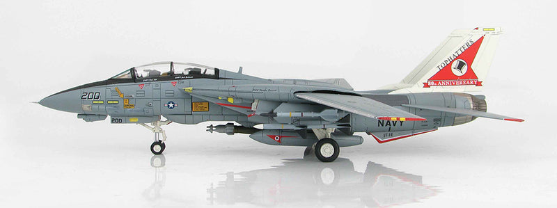 "Grumman F-14A Tomcat, VF-14 ""Tophatters"" 1999, 1/72 Scale Model By Hobby Master"