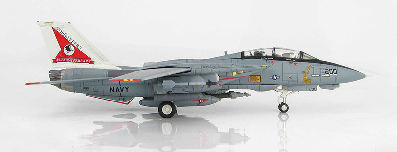Grumman F-14A Tomcat, VF-14 1999, 1/72 Scale Model By Hobby Master Right Side View