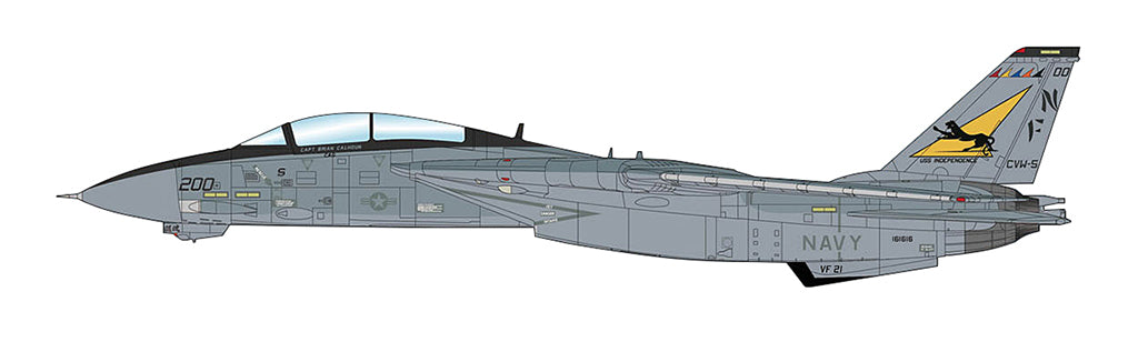 "F-14A Tomcat VF-21 ""Freelancers"" 1/72 Scale Modely By Hobby Master Profile Art"