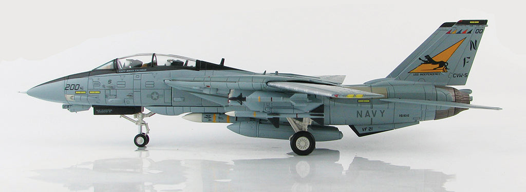 "F-14A Tomcat VF-21 ""Freelancers"" 1/72 Scale Modely By Hobby Master Left Side View"