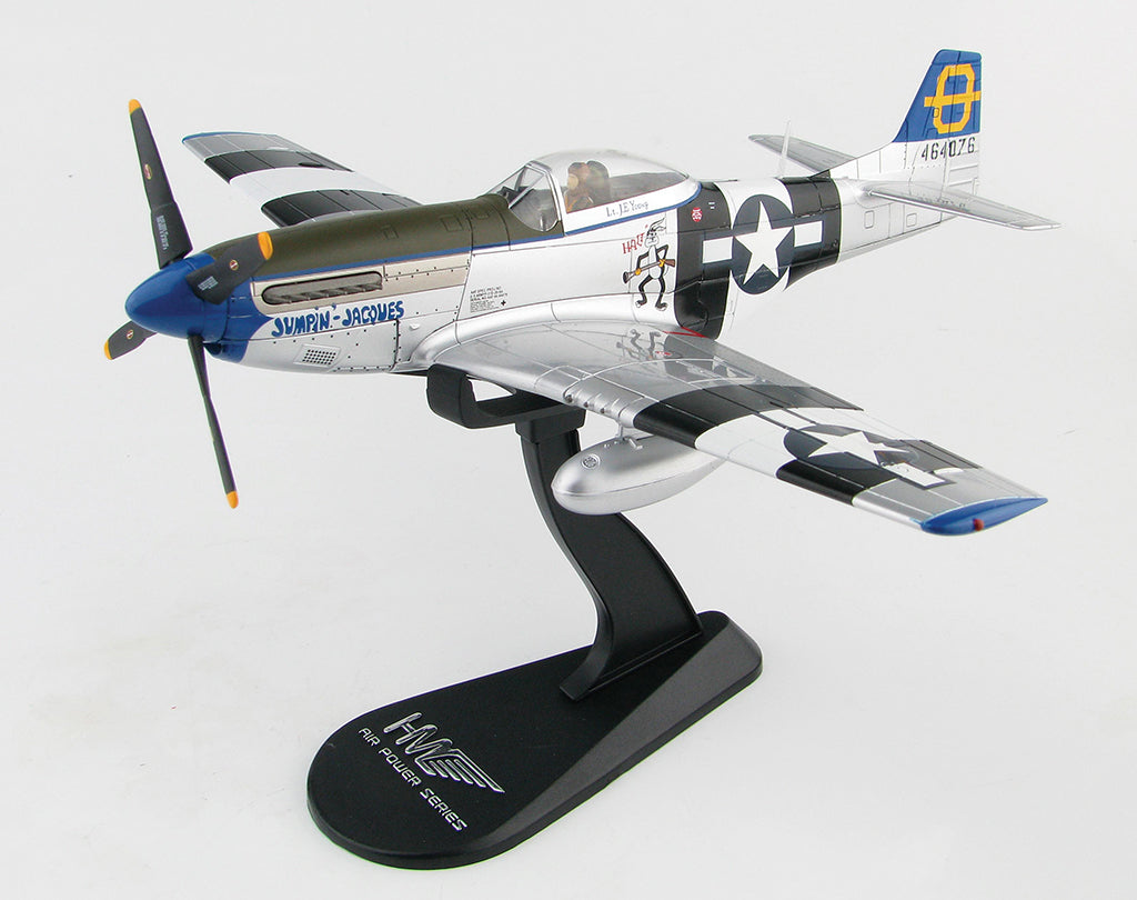 """North American P-51D Mustang """"Jumpin Jacques"""" 1:48 Scale Diecast Model By  Hobby Master"""
